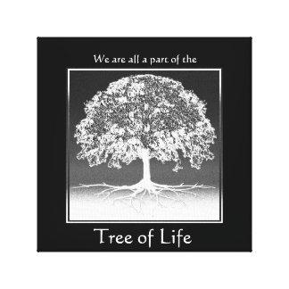 私達はすべて生命の樹の部分です キャンバスプリント