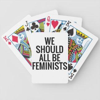 私達はすべて男女同権主義者べきです バイスクルトランプ