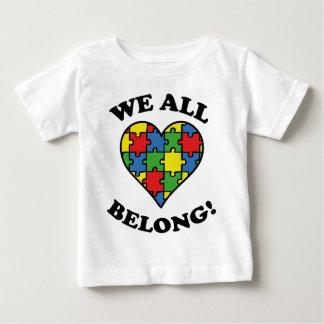 私達はすべて認識度-自閉症の属します ベビーTシャツ
