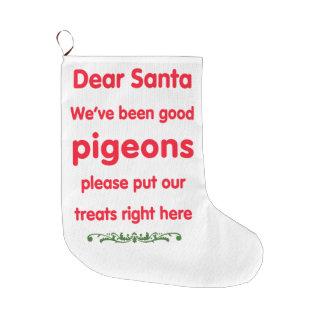 私達はずっとよいハトです ラージクリスマスストッキング