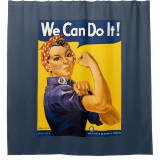 私達はそれをしてもいいです! Rosieリベッターのヴィンテージの第2次世界大戦 シャワーカーテン
