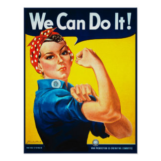 私達はそれをしてもいいです! Rosieリベッターポスタープリント ポスター