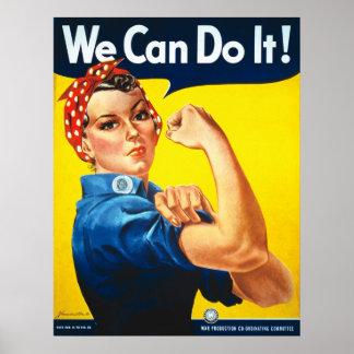 私達はそれをしてもいいです! Rosieリベッター ポスター