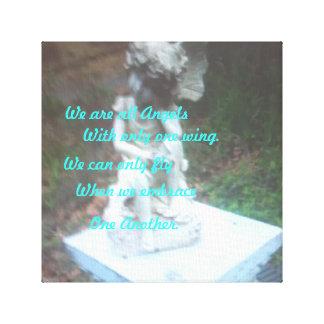 """""""私達はですすべての天使"""" キャンバスプリント"""