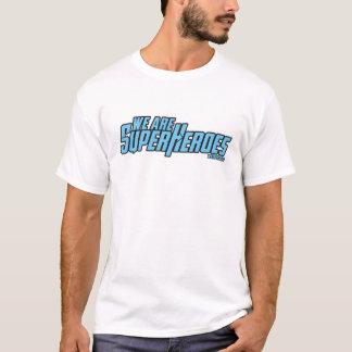 私達はですSupeheroesのロゴのTシャツ(薄い色) Tシャツ