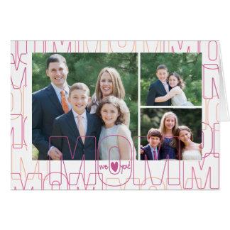 私達はのお母さん愛します! x3 グリーティングカード
