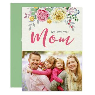 私達はのお母さん|の写真の母の日の平らなカード愛します 12.7 X 17.8 インビテーションカード