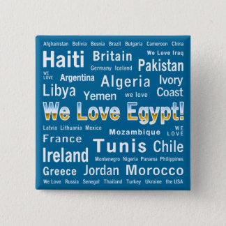 私達はエジプトを、等愛します 5.1CM 正方形バッジ