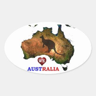 私達はオーストラリアを愛します 楕円形シール