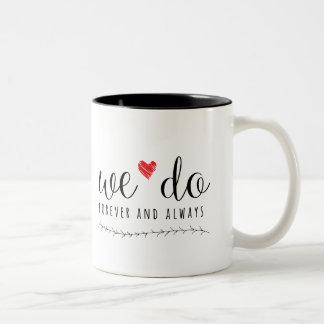 私達はコーヒー・マグをします ツートーンマグカップ