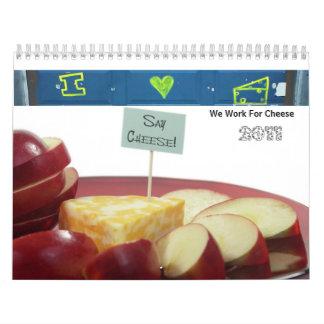 私達はチーズカレンダーのために働きます カレンダー