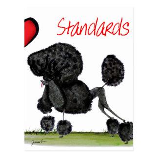 私達はトニーFernandesからの標準プードルをlove ポストカード