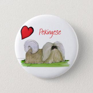 私達はトニーFernandesからのpekingese love 5.7cm 丸型バッジ