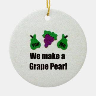 私達はブドウナシを作ります! セラミックオーナメント