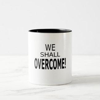 私達はマグを克服します ツートーンマグカップ