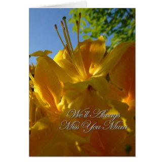 私達はミイラの悔やみや弔慰カードを常に恋しく思います カード
