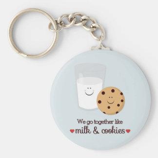 私達はミルクおよびクッキーのように一緒に行きます キーホルダー