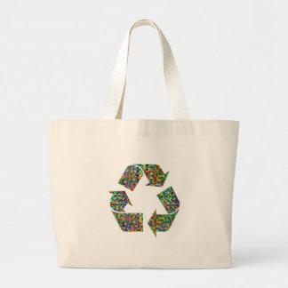 私達はリサイクルのチャンピオンを崇拝します ラージトートバッグ