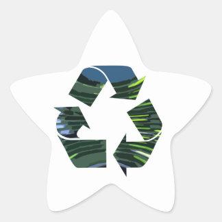 私達はリサイクルのチャンピオンnvn236の緑の環境を崇拝します 星シール