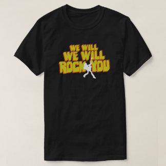 私達はレトロ80sの大衆文化のタイポグラフィ揺すります tシャツ