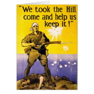 私達は丘を取りました カード