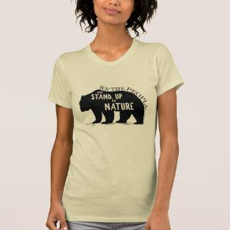 私達は人々自然-くま--を擁護します Tシャツ