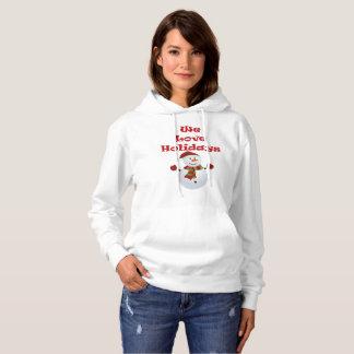 私達は休日の女性のフード付きスウェットシャツを愛します パーカ