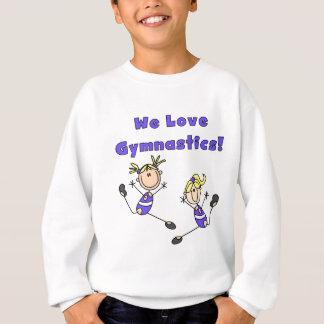 私達は体操のTシャツおよびギフトを愛します スウェットシャツ