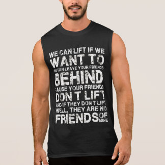 私達は体育館のおもしろいなワイシャツにほしければ持ち上がってもいいです 袖なしシャツ