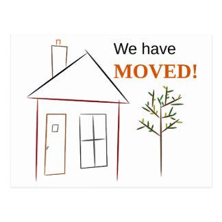 私達は動きました! (家および木) 葉書き