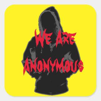 私達は匿名です スクエアシール