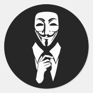 私達は匿名です ラウンドシール