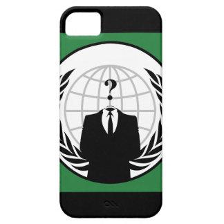 私達は匿名の緑および黒い旗です iPhone SE/5/5s ケース