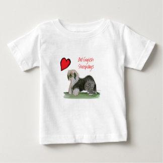 私達は古い英国の牧羊犬、トニーFernandesをlove ベビーTシャツ