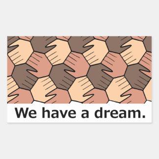 私達は夢を有します 長方形シール