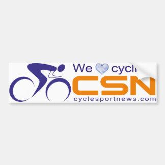 私達は循環することを愛します! CSNのバンパーステッカー バンパーステッカー