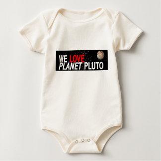 私達は惑星プルートを愛します ベビーボディスーツ