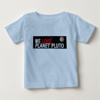 私達は惑星プルートを愛します ベビーTシャツ