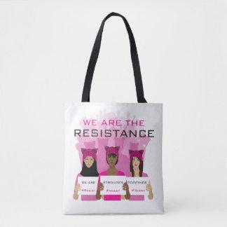 -私達は抵抗です-ピンクの帽子に抵抗して下さい トートバッグ