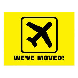 私達は新しい住所のための平らな移動郵便はがきを動かしました はがき