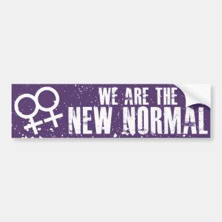 私達は新しく正常なレズビアンのバンパーステッカーです バンパーステッカー