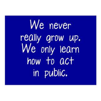 私達は決して実際に育ちません ポストカード