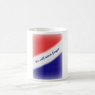 私達は決して9/11のマグを忘れません コーヒーマグカップ