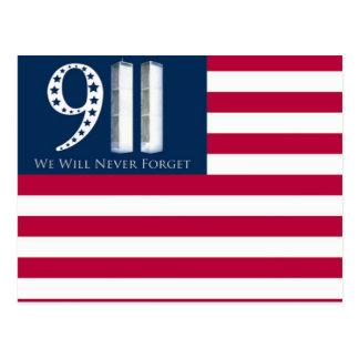 私達は決して9/11を忘れません ポストカード