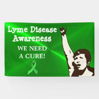 私達は治療、ライム病の抗議の印の旗を必要とします 横断幕