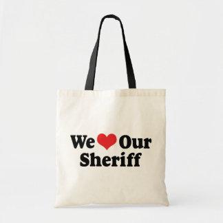 私達は私達の保安官を愛します トートバッグ