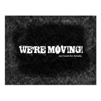 私達は移動白黒黒板のデザインです ポストカード