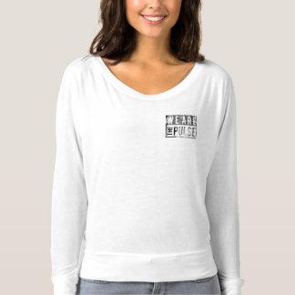 私達は脈拍の女性の長袖です Tシャツ