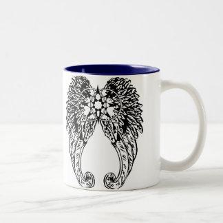 """""""私達は色のインテリアが付いている婚約したな""""コーヒー・マグです ツートーンマグカップ"""