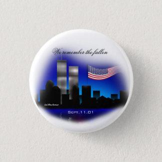 私達は落ちたな9月11日の記念物ボタンを覚えています 3.2CM 丸型バッジ